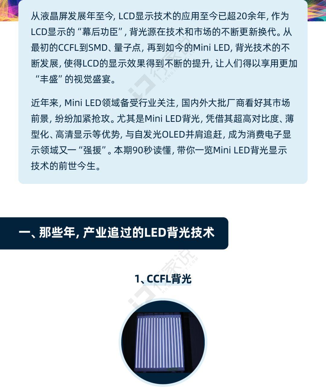 一图读懂:Mini LED背光的前世今生  第2张