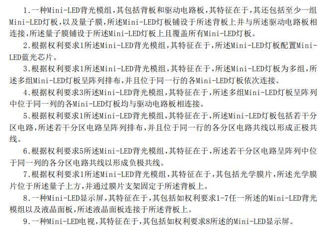 MiniLED专利赏析:华星光电︱康佳  第1张