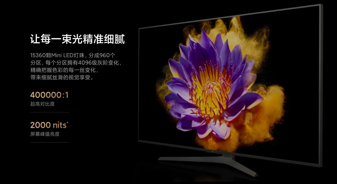 小米发布MiniLED电视,5G+8K+MiniLED  第1张