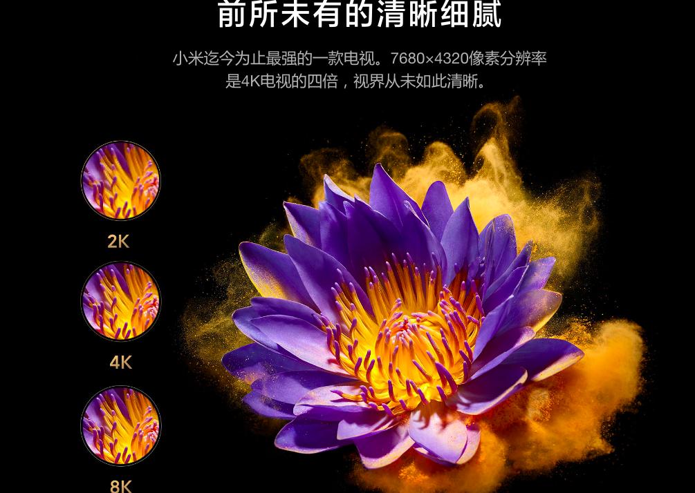 小米发布MiniLED电视,5G+8K+MiniLED  第2张