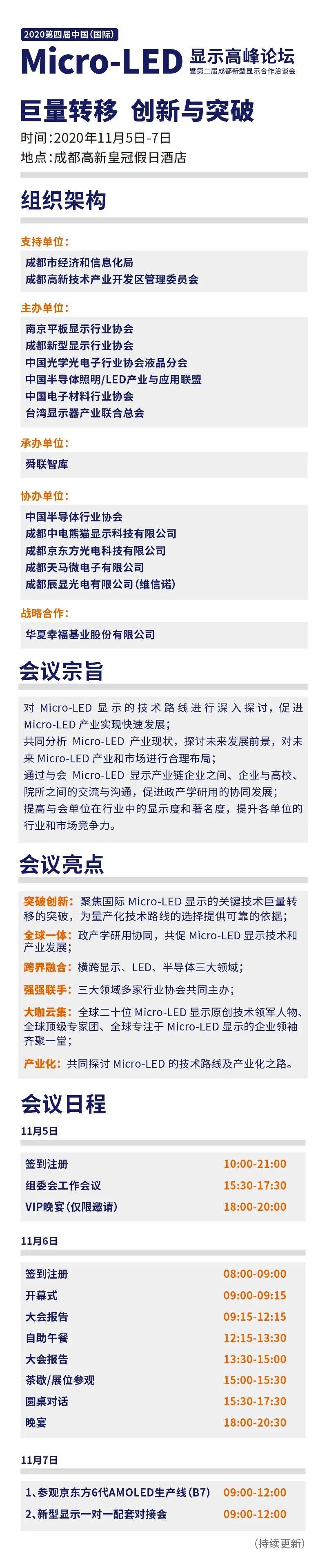 2020第四届中国Micro-LED显示高峰论坛:探讨、参观、对接,精彩以待  第4张