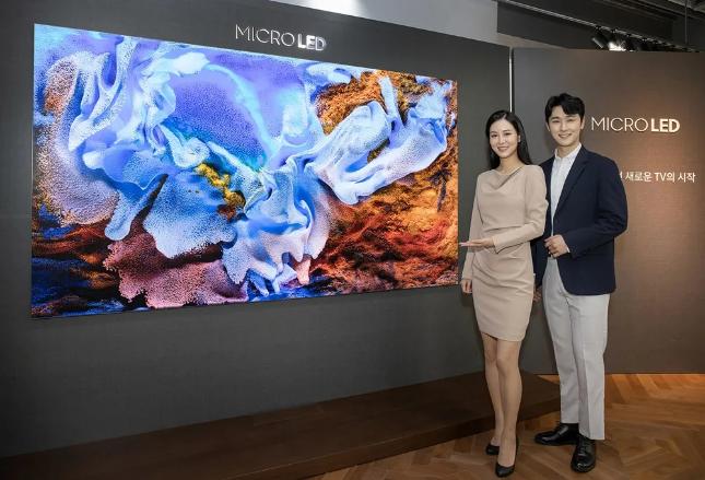 三星发布110寸MicroLED面板电视:不烧屏、99.99%屏占比  第1张