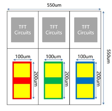 高度透明,超薄灵活,全彩色MiniLED显示与铟-镓-锌氧化物薄膜晶体管基板  第1张
