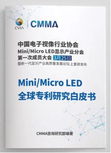 重磅发布预告:全行业首发《Mini/Micro LED全球专利研究白皮书》