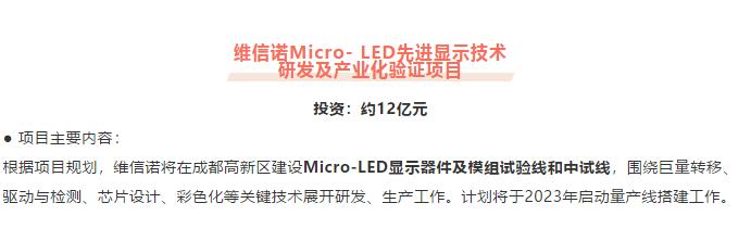 维信诺MicroLED公司辰显光电与厦门三安半导体达成战略合作