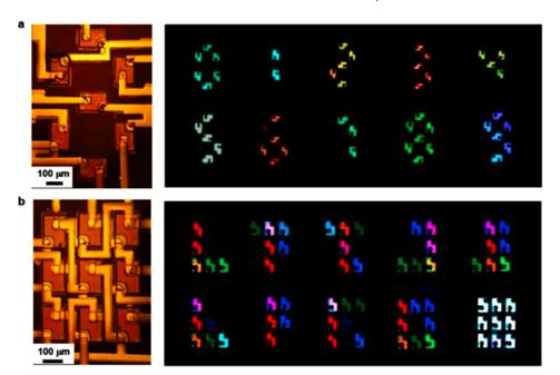 清华大学成功开发叠层RGB Micro LED全色阵列  第4张