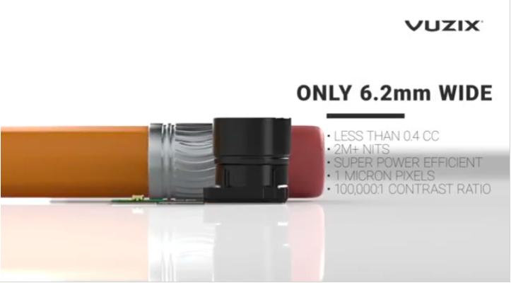 像素间距达1um,Vuzix推出MicroLED投影引擎
