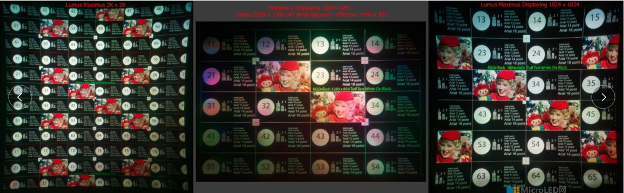 Lumus Maximus阵列光波导与HoloLens2对比  第4张